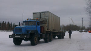 Transportation by winter road to Usinsk